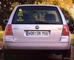 """Si tu ai fost ca mine"""" Sticker Auto, Volkswagen Golf, Calm"""