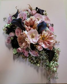 This lovely cascading bouquet recreation is sure to add some beauty to any room in your house. #floralpreservation #bridalbouquet #leighflorist #weddingflowers #weddingflorist #njweddingflorist #njbride #prettyinpink #weddingday Custom Shadow Box, Wedding Flowers, Wedding Day, Cascade Bouquet, Flowers Delivered, Local Florist, Box Design, Pretty In Pink, Floral Wreath