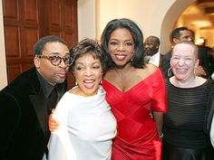 Spike Lee, Ruby Dee, Oprah and Pearl Cleage. Copyright Harpo Productions, Inc. Gorgeous Eyes, Black Is Beautiful, Beautiful People, African American Women, African Americans, Legendary Pictures, George Burns, Spike Lee, Important People