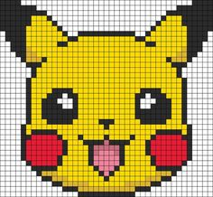Pokemon Battle Trozei Pikachu Perler Bead Pattern | Bead Sprites | Characters Fuse Bead Patterns