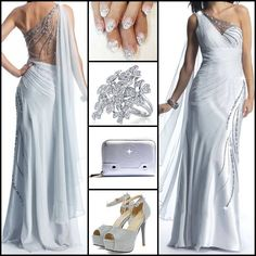 Gorgeous Beading One-Shooulder Formal Dress