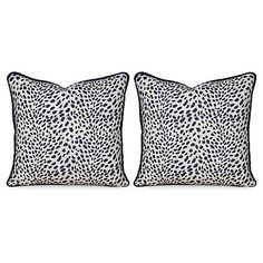 S/2 Leopard Path 20x20 Pillows, Navy $429.00