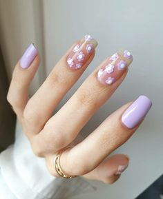 Simple Acrylic Nails, Best Acrylic Nails, Acrylic Nail Designs, Simple Nails, Summer Acrylic Nails, Fruit Nail Designs, Flower Nail Designs, Long Nail Designs, Nail Polish Designs