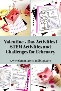 Keep first, second, third, & fourth graders engaged & learning with this Valentine's Day Activities & February STEM Engineering Challenges resource. Included in this resource are four exciting STEM challenges that include an outline, a teacher brief listing all of the needed items & the activity goal, an anchor chart, design page, recording page, & a reflection page to help follow student thinking. 1st, 2nd, 3rd, & 4th grade students will love these exciting STEM challenges. #STEM #ValentinesDay Valentines Day Activities, Hands On Activities, Stem Activities, Educational Activities, Engineering Challenges, Stem Challenges, Elementary Education Activities, Island Holidays, Stem Skills