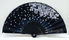 hand fan folding fan Fabric Japanese Sakura by HaveItFancyWorld, $6.99