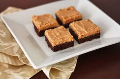 Brownies with fluffy peanut butter frosting