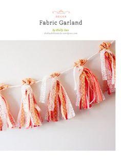 good tutorial for fabric tassles  DIY Fabric Garland