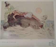 Mabel Lucie Attwell's illustrations for Peter Pan and Wendy - A mermaid caught Wendy