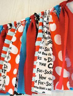 Dr. Seuss Fabric Tie Garland