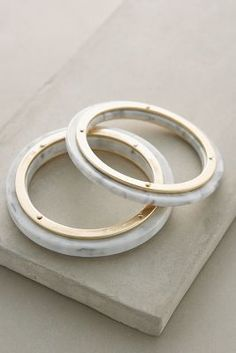 Anthropologie Lucite Bangles