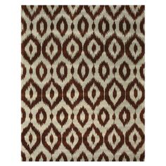 @Overstock.com - Create a sophisticated atmosphere in your home or office with this Hand Tufted Wool Brown Ikat Rug. A dense, thick pile of colorful wool highlights this beautiful rug.http://www.overstock.com/Home-Garden/Hand-Tufted-Wool-Brown-Ikat-Rug-5-x-8/7579914/product.html?CID=214117 $196.34
