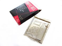 Phone-Dex by Abon Mini Address Phone Book 14K Gold Plated Metal Compact Phone Directory Purse Size Chatelaine Book Miniature Phone Book MIB by CollectionSelection on Etsy - SOLD