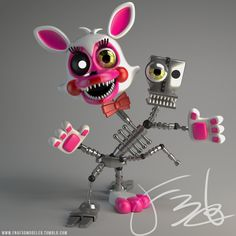 Mangle Model (Not mine) Mangle Toy, Foxy And Mangle, Mario Y Luigi, Jumping Spider, Freddy 's, Funtime Foxy, How To Make Clay, Anime Fnaf, Freddy Fazbear