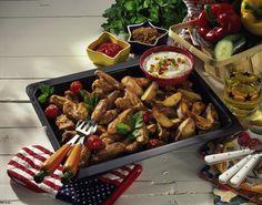 Unser beliebtes Rezept für Chicken wings & Country-Kartoffeln und mehr als 55.000 weitere kostenlose Rezepte auf LECKER.de.