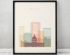 Boise print, Poster, Wall art, Boise skyline, Idaho cityscape, City poster, Typography art, Home Decor, Digital Print, ArtPrintsVicky.