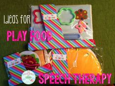 Kids LOVE to play with toy food, and there are dozens of easy ways to incorporate these fun objects into your speech therapy classroom. Check out the blog for great ideas and activities to use play food with your language students. #SLP #OT #language #SpEd #classroom #students #speech #therapy #activities #inexpensive