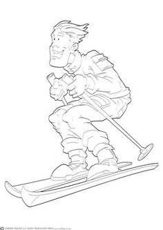 Skier Dude Digital Stamp on Craftsuprint designed by Gordon Fraser - Cow bells ahoy! This skier Dude hurdles down the slopes! Digi stamp version which can easily be resized in your own software. More versions of this Dude are available. Don't forget to check out my other original designs and Dudes, just click on my name. Thanks for looking! - Now available for download!
