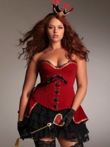 queen of hearts corset | ... Queen of Hearts Costume by Hips and Curves Lingerie! – CurveInspire