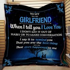 LHD family quilt - Wife to husband - When I tell you I love you I Love My Girlfriend, Boyfriend Names, Girlfriend Quotes, Love My Husband, My Boyfriend, L Love You, You And I, Told You So, My Love