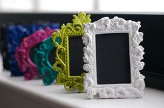 Mini Chalkboard  White Frame by eschreur on Etsy, $3.25
