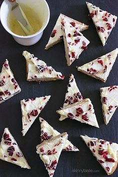 Bake slightly healthier versions of your favorite holiday treats (like these cranberry bliss bars).