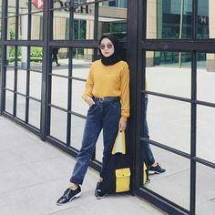 Modest Fashion, Hijab Fashion, Women's Fashion, Ootd Hijab, Hijab Outfit, Modern Hijab, Muslim, Mom Jeans, Normcore