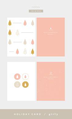 A girly interpretation of the holiday card Holiday Day, Holiday Cards, Christmas Cards, Xmas, Christmas Graphic Design, Christmas Graphics, Branding, Freelance Graphic Design, Graphic Design Inspiration