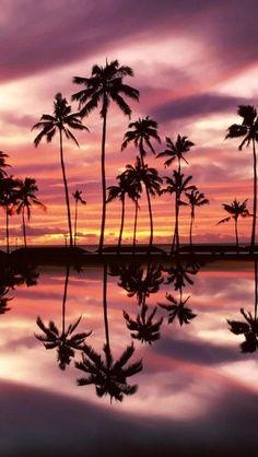 Sunset Honolulu Beach, Hawaii