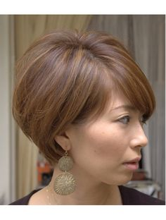 Asia(aJyu) clear UP natural short Asymmetrical Bob Haircuts, Short Bob Haircuts, Cute Hairstyles For Short Hair, Short Hair Cuts, Short Hair Styles, Corte Bob, Hair Upstyles, One Hair, Hair 2018