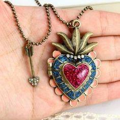 vintage style antique bronze colorful love by raibowluorainbowluo