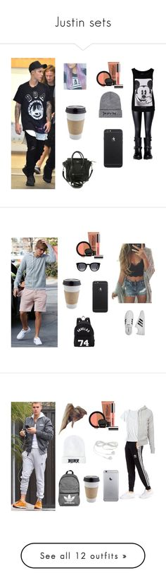 """Justin sets"" by laurynha ❤ liked on Polyvore featuring ElevenParis, Valentino, Justin Bieber, LORAC, OUTRAGE, adidas, GET LOST, Givenchy, adidas Originals and Horny Toad"