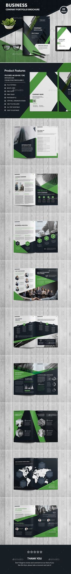 Company Profile 16 Pages Template INDD Company Profile Brochure - company profile templates word