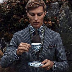 Is it tea time yet? Indeed it is! It's Gentleman Style.