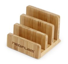 Neoflam® Bamboo Cutting Board Holder Nothing is worse than a messy kitchen. It's a real eye-sore, and it makes it harder to cook! This counts double when your cutting boards are messy. Luckily, there