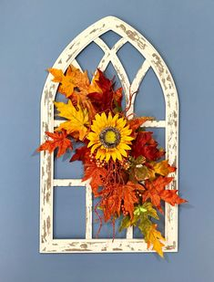 Fall Church Decorations, Thanksgiving Decorations, Halloween Decorations, Floral Decorations, Altar Decorations, Arched Wall Decor, Fall Lanterns, Winter Centerpieces, Church Windows