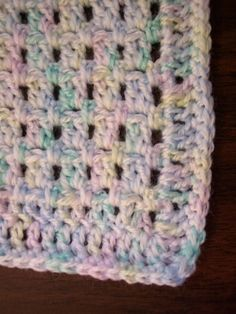 This baby blanket pattern is good for beginners. Need to know single and double crochet. It starts with a foundationless double crochet (directions and photos here , where i. Crochet Baby Blanket Free Pattern, Baby Afghan Crochet, Manta Crochet, Crochet Blanket Patterns, Crochet Stitches, Free Crochet, Knit Crochet, Knitting Patterns, Baby Afghans