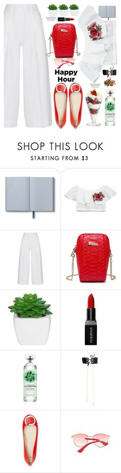 """""""Bottoms Up: Happy Hour"""" by paculi ❤ liked on Polyvore featuring Diane Von Furstenberg, Smashbox and happyhour"""