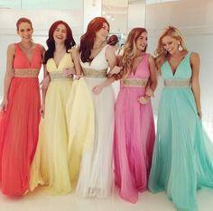 charming bridesmaid dress,long bridesmaid dress,v-neck bridesmaid dress,custom bridesmaid dress,BD1622