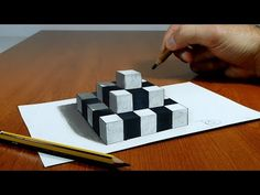 3D Trick Art on Paper, Try to do Floating chess - YouTube
