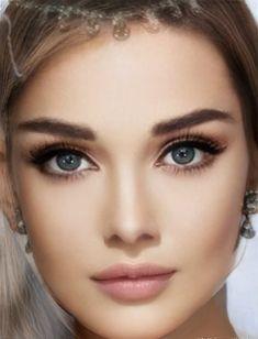 Beautiful Women Pictures, Most Beautiful Women, Face Blender, Beauty Makeup, Hair Beauty, Black Wig, Stunning Eyes, Cute Beauty, Light Hair