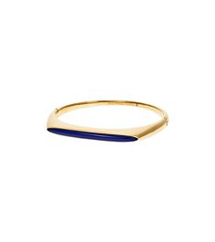 Embellished Gold-Tone Hinge Bangle by Michael Kors