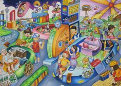 'Car Non-polluting Resources' by Sheena Yap Xing Yee, Aged 15, Malaysia: 4th Contest, Bronze #KidsArt #ToyotaDreamCar