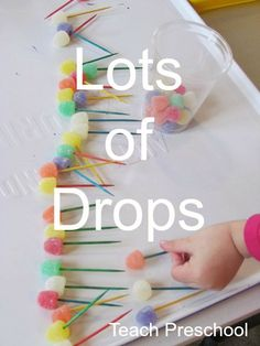 Lots of Drops by Teach Preschool: This post isn't just about gumdrops but about the importance of following the children's lead as one is teaching.