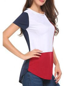Women's Color Block Comfy Blouse Shirts Asymmetrical Hem Tee Shirt Casual Tops - - - Women's Clothing, Tops & Tees, Blouses & Button-Down Shirts # # Tees For Women, Blouses For Women, Casual Tops, Casual Shirts, Casual Jeans, Shirt Blouses, Tee Shirts, Trendy Outfits, Fashion Outfits