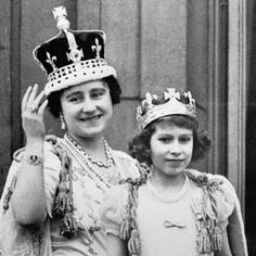 File photo dated 12/05/1937 of Queen Elizabeth (the Queen Mother) with her eldest daughter Princess ... - PA/PA WIRE/Press Association