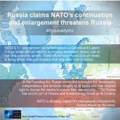 #RussiaMyths - Russia claims NATO's continuation & enlargement threatens Russia.   This fact sheet sets the record straight: www.nato.int/cps/en/natolive/topics_111767.htm Central And Eastern Europe, Cold War, Sheet Sets, Russia, Travel, Viajes, Traveling, Tourism, Outdoor Travel