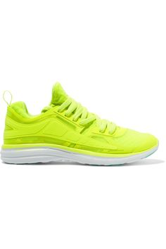 ATHLETIC PROPULSION LABS Prism neon mesh sneakers  $195.00 https://www.net-a-porter.com/product/802669