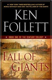 fall of giants by Ken Follett I bought this to take on our hunting/camping trip. Saw it at Walmart and had to have it. I couldn't put it down!