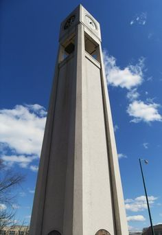 A photograph in Wisconsin Rapids of a modern art deco clock tower. It houses the century bell and clock from the old town hall Towns In Wisconsin, Modern Art Deco, Art And Architecture, Architecture Details, Modern Glass, Town Hall, Old Town, Exterior Design, 19th Century