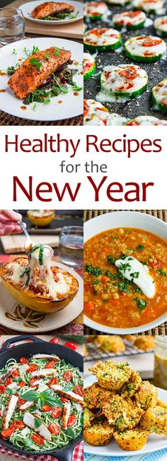 Healthy Recipes to Start the New Year. Not all vegetarian. Tolle Rezepte. Ganz vielfältig! Anmerkung alina